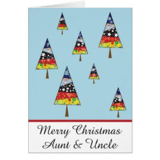 Tarjeta de felicitación del navidad de la tía y de
