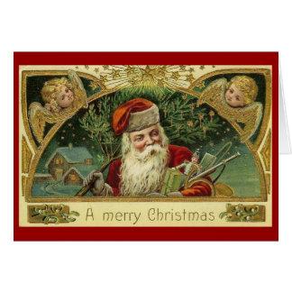 Tarjeta de felicitación del navidad de las