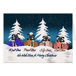 tarjeta de felicitación del navidad de las ovejas