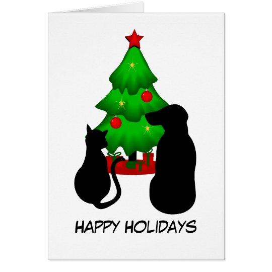 Tarjeta de felicitación del navidad de los