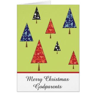Tarjeta de felicitación del navidad de los Godpare