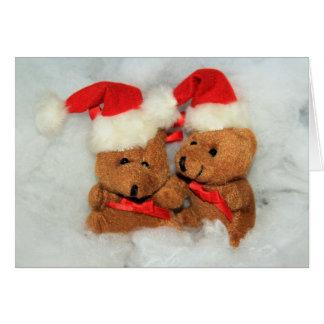 Tarjeta de felicitación del navidad de los osos de