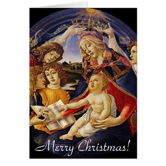 Tarjeta de felicitación del navidad de Madonna del
