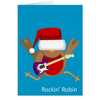 """Tarjeta de felicitación del navidad de """"Rockin"""""""