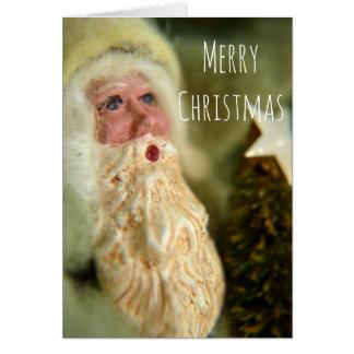 Tarjeta de felicitación del navidad de Santa del