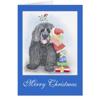 Tarjeta de felicitación del navidad de Terranova