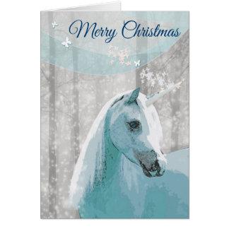 Tarjeta de felicitación del navidad del caballo
