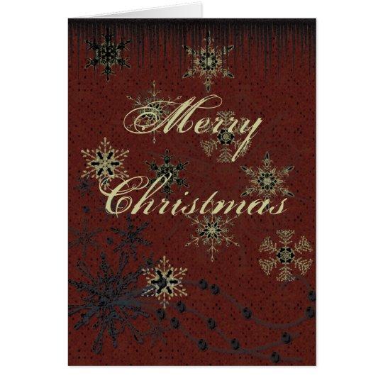 Tarjeta de felicitación del navidad del Grunge