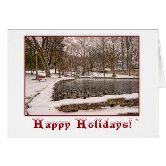 Tarjeta de felicitación del navidad del invierno