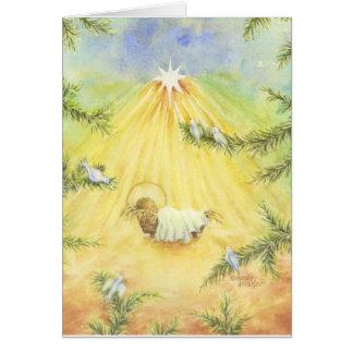 Tarjeta de felicitación del navidad Jesús en