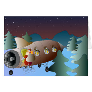 Tarjeta de felicitación del navidad Moonrocket