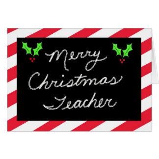 Tarjeta de felicitación del navidad para el profes