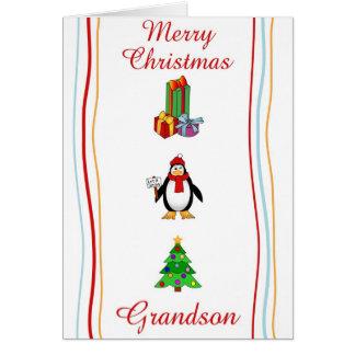 Tarjeta de felicitación del nieto de Navidad