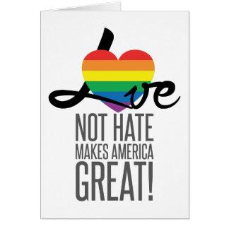 Tarjeta de felicitación del odio del amor no (arco