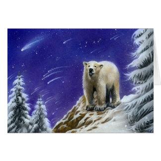 Tarjeta de felicitación del oso de Pola de la