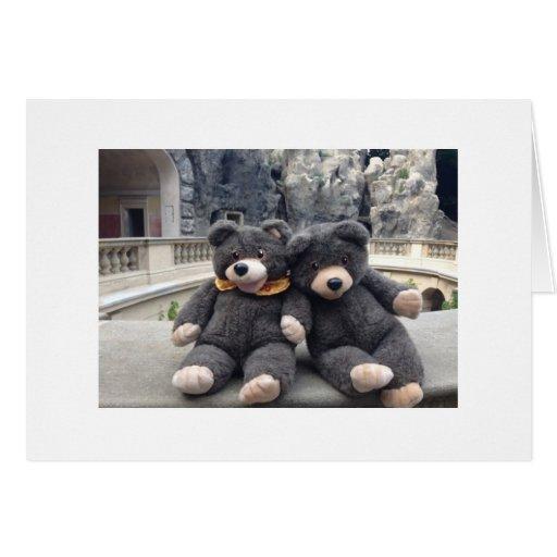 Tarjeta de felicitación del oso del bingo