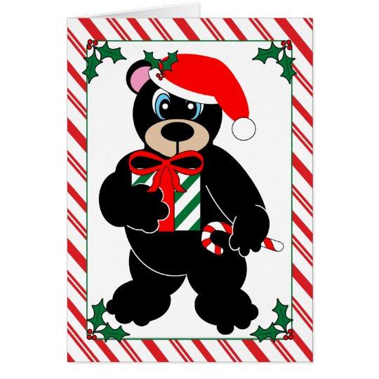 Tarjeta de felicitación del oso del navidad