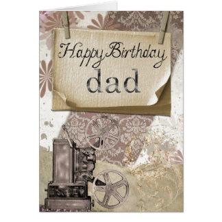 Tarjeta de felicitación del papá del feliz