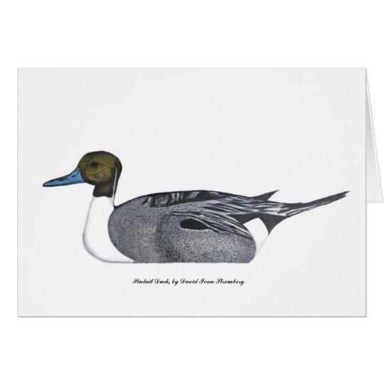 Tarjeta de felicitación del pato del pato rojizo,