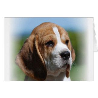 Tarjeta de felicitación del perrito del beagle