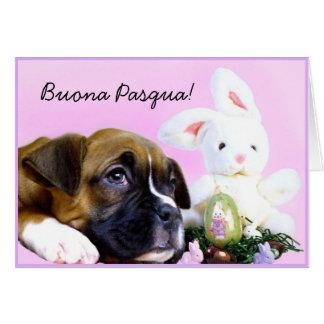 Tarjeta de felicitación del perrito del boxeador d