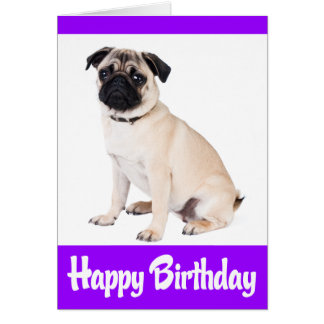 Tarjeta de felicitación del perro de perrito del b