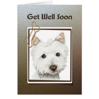 Tarjeta de felicitación del perro de Westie