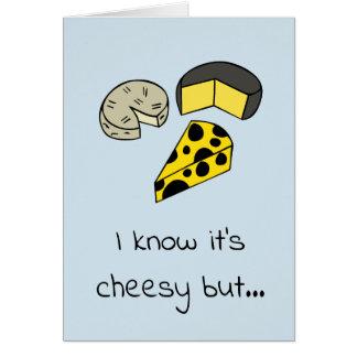 Tarjeta de felicitación del queso