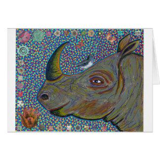 Tarjeta de felicitación del rinoceronte