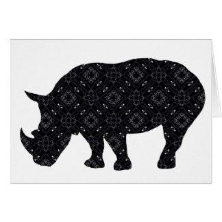 Tarjeta de felicitación del rinoceronte de la