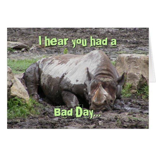 Tarjeta de felicitación del rinoceronte que se