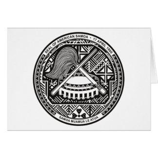 Tarjeta de felicitación del sello de American