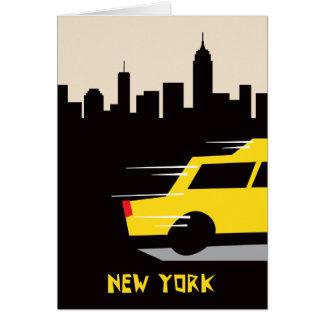 Tarjeta de felicitación del taxi de Nueva York
