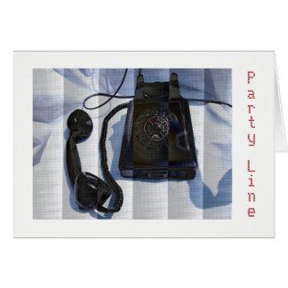 Tarjeta de felicitación del teléfono del vintage