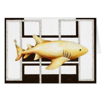 Tarjeta de felicitación del tiburón de enfermera