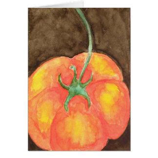Tarjeta de felicitación del tomate