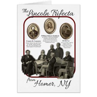 Tarjeta de felicitación del Trifecta de Lincoln