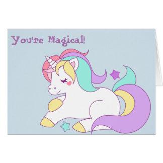 Tarjeta de felicitación del unicornio