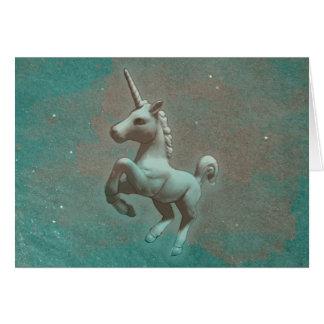 Tarjeta de felicitación del unicornio (acero del