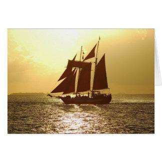 Tarjeta de felicitación del velero