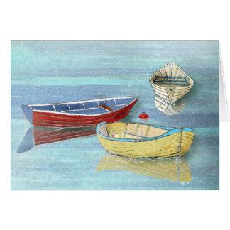 Tarjeta de felicitación del verano de los barcos tarjeta de felicitación