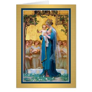 Tarjeta de felicitación del Virgen María 0026