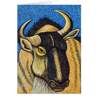 Tarjeta de felicitación del Wildebeest