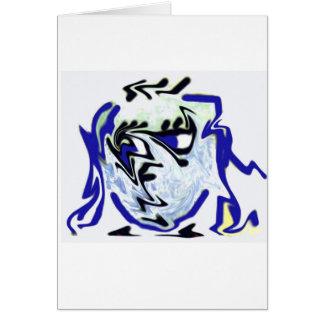 tarjeta de felicitación derretida de la cara