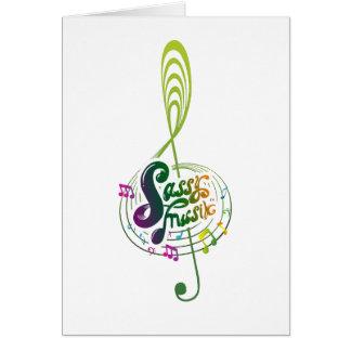 Tarjeta de felicitación descarada de Musik