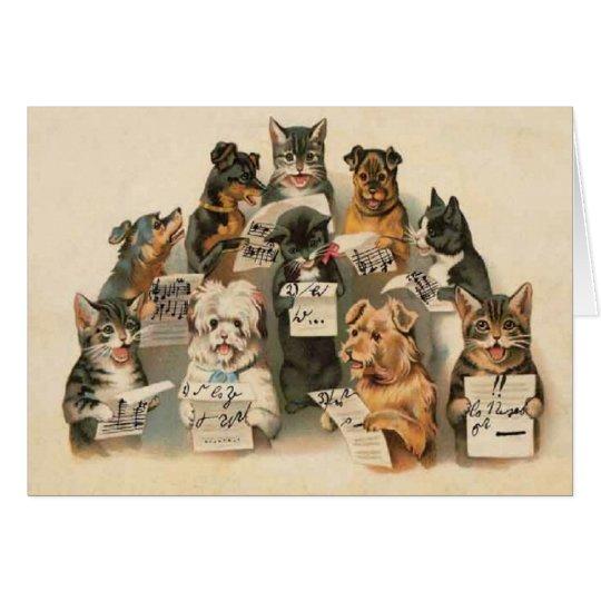 Tarjeta de felicitación diaria de los perros