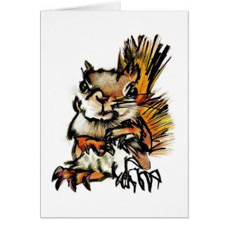 Tarjeta de felicitación: Dibujo de la ardilla