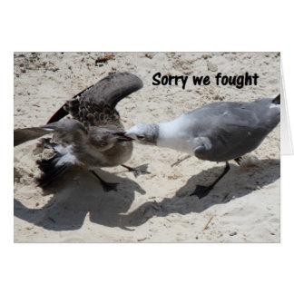 Tarjeta de felicitación - disculpa
