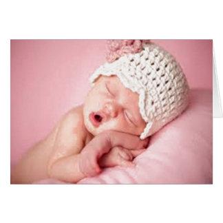 tarjeta de felicitación, diseñador recién nacido