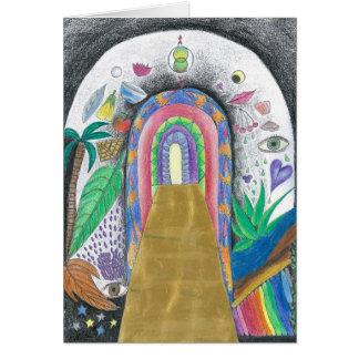 Tarjeta de felicitación - diseño espiritual